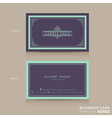 Classic vintage Business card namecard vector image vector image