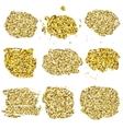 Set of glitter golden blots vector image vector image