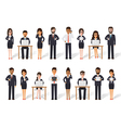 Businessman and businesswoman people in actions vector image vector image