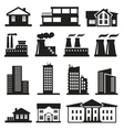 Buildings and factories vector image