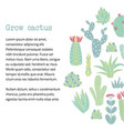 cactus text banner vector image