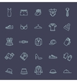 Clothes icons thin line style vector image