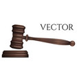 judge gavel isolated on white photo-realistic vector image