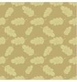 Seamless oak leaves background vector image