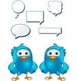 Blue Bird Hands On Hips vector image