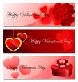 Valentine banner set vector image