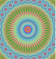 Multicolored abstract mandala ornament background vector image