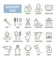 barbershop icons set of pictogram vector image