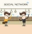 social network businessman vector image