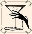 vintage champagne vector image vector image