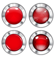 Set of red buttons vector image