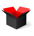 Opened box vector image