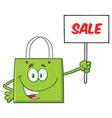 Green Shopping Bag Cartoon vector image