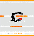 Athlete Swimmer vector image vector image