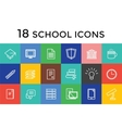 Back to school 16 icons set Science vector image