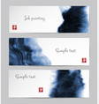 banners with abstract blue ink wash painting in vector image