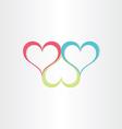color hearts love symbol vector image