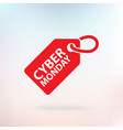 cyber monday tag red color vector image