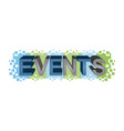 events word design vector image