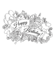 Happy Birthday background for card Hand drawn vector image