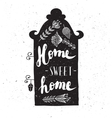 House with phrase sweet home vector image