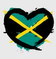 Jamaica heart shape flag vector image