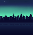 night city on a background an ocean vector image
