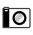 photo camera icon in black silhouette with thick vector image