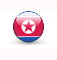 Round icon with national flag of North Korea vector image