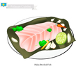 Palauan Broiled Fish A Popular Dish of Palau vector image