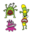colorful microbes vector image
