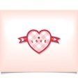 Heart with an arrow and check pattern vector image