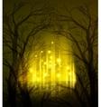 Abstract dramatic night tree vector image