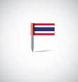 thailand flag pin vector image