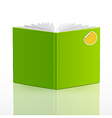 blank open book template vector image
