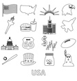 united states of america country theme outline vector image