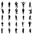 Business people silhouette set vector image