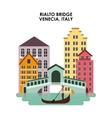 Venecia city icon Italy culture design vector image