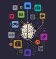 Brain activity infographics vector image
