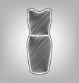 dress sign pencil sketch vector image