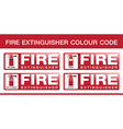 Fire Extinguisher Colour Code vector image