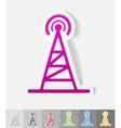 realistic design element tv tower vector image