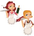 waitress vector image