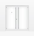 White door vector image