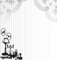 retro background with lace and objects vector image vector image