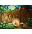A bonfire in the jungle vector image vector image