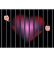 imprison heart feel in love vector image