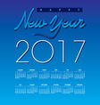 2017 Creative Happy New Year calendar vector image
