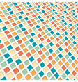 coloured 3d mosaic background vector image vector image