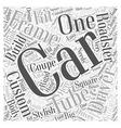 SC custom built sports cars Word Cloud Concept vector image